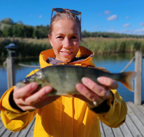 Katja Svahnback ja kala